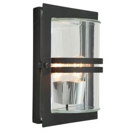 Elstead Basel Black Clear Outdoor Light