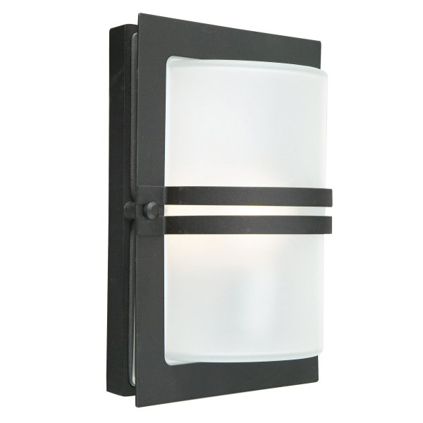 Elstead Basel Black Frosted Outdoor Light