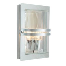 Elstead Basel Galvanised Clear Outdoor Light