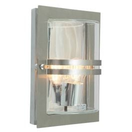 Elstead Basel Stainless Steel Clear Outdoor Light