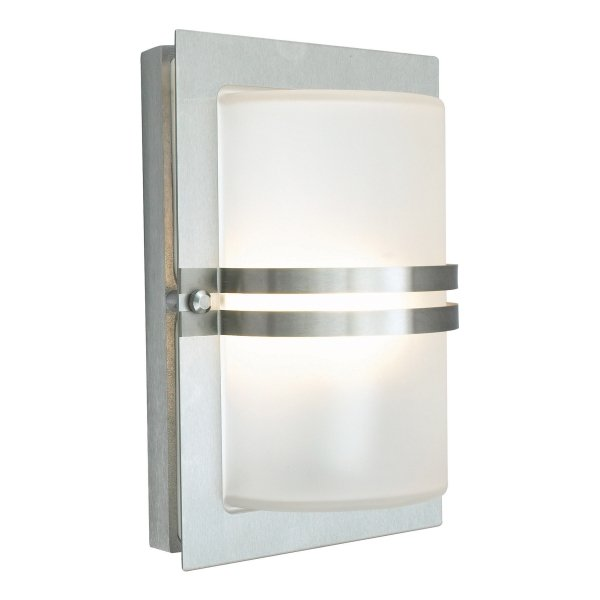 Basel Stainless Steel Frosted Outdoor Light