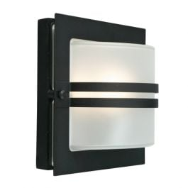 Elstead Bern Black Frosted Outdoor Light