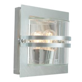 Elstead Bern Galvanised Clear Outdoor Light