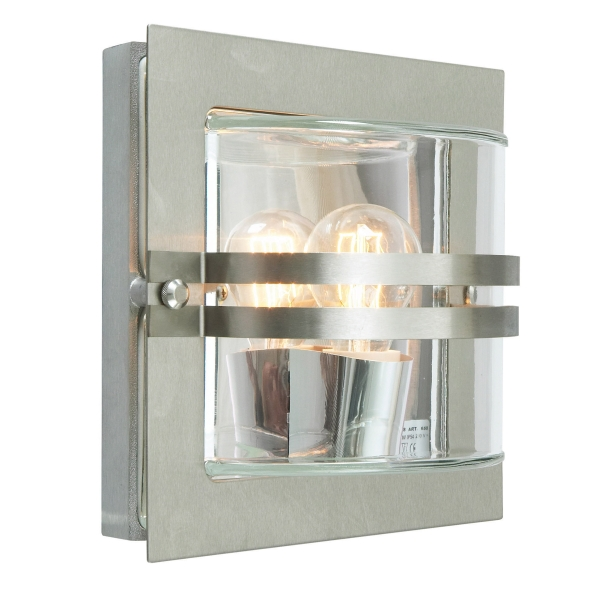 Elstead Bern Stainless Steel Frosted Outdoor Light