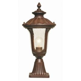 Elstead Chicago Outdoor Pedestal Lantern - Small