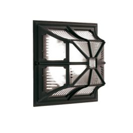 Elstead Chapel Up Outdoor Ceiling Flush Lantern Black
