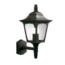 Elstead Chapel Mini Up Wall Outdoor Lantern in Black