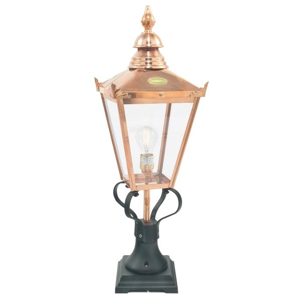 Chelsea Grande Outdoor Pedestal Light in Copper