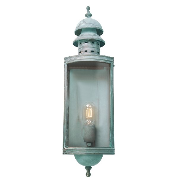 Elstead Downing Street Outdoor Wall Lantern in Verdi