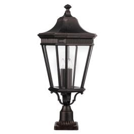 Elstead Cotswold Lane Outdoor Pedestal Light - Large - Grecian Bronze.
