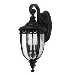 Elstead English Bridle 3lt Outdoor Wall Lantern in Black - Large