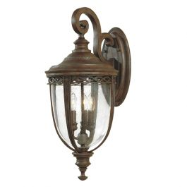 Elstead English Bridle 3lt Outdoor Wall Lantern in British Bronze - Large