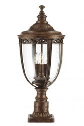 Elstead English Bridle 3lt Pedestal in British Bronze - Large