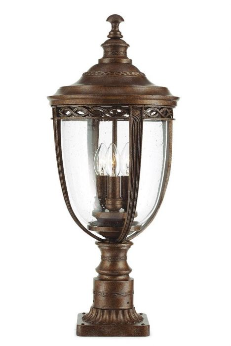 English Bridle 3lt Pedestal in British Bronze - Large