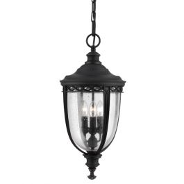 English Bridle 3lt Chain Outdoor Lantern in Black - Large
