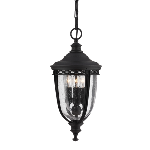 Elstead English Bridle 3lt Chain Outdoor Lantern in Black - Medium