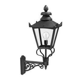 Grampian Outdoor Wall Lantern in Black