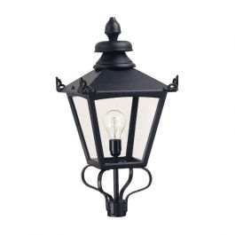 Grampian Head Only Black Outdoor Light
