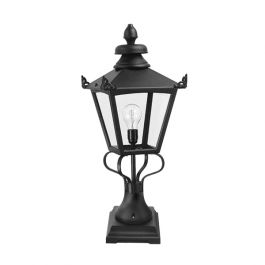 Grampian Outdoor Pedestal Lantern in Black