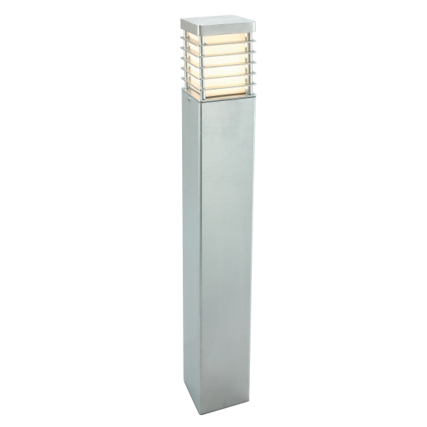 Halmstad Large Outdoor Bollard Light E27 Galvanised