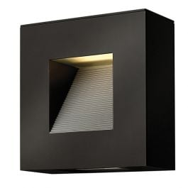 Luna LED Outdoor Wall Light in Satin Black - Small