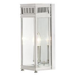 Holborn Outdoor Half Lantern in Polished Chrome - Small
