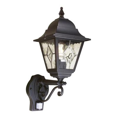 Elstead Norfolk Up Outdoor Wall Lantern With PIR Motion Sensor
