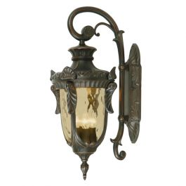 Elstead Philadelphia Large Outdoor Wall Lantern in Black