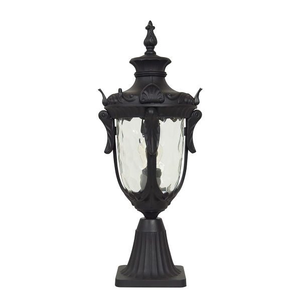Philadelphia Medium Outdoor Pedestal Light Black