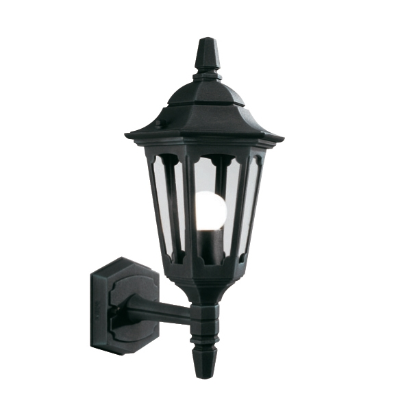 Parish Mini Pedestal Lantern: Parish Mini Up Outdoor Wall Lantern In Black £80.99