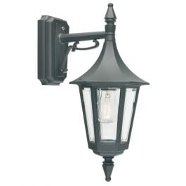 Elstead Rimini Down Outdoor Wall Lantern in Black