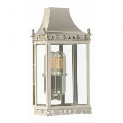 Elstead Regents Park Outdoor Wall Lantern in Polished Nickel