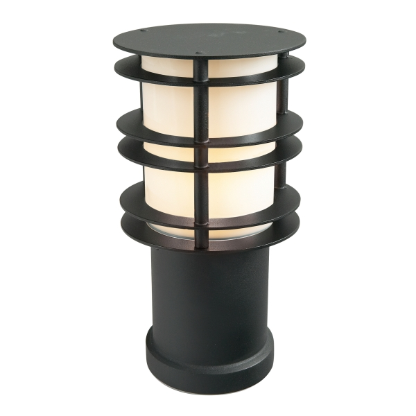 Stockholm Small Outdoor Bollard Light E27 in Black