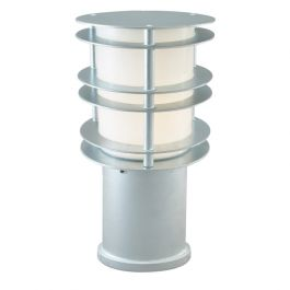 Stockholm Small Outdoor Bollard Light E27 Galvanised