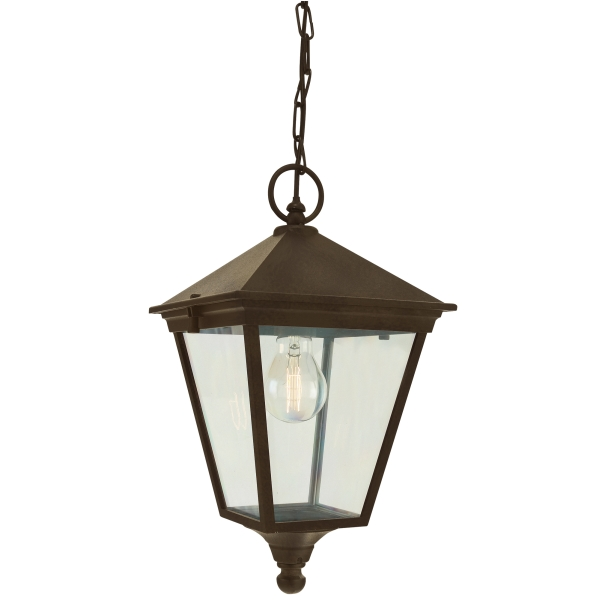 Elstead Turin Chain Outdoor Light in Black Gold