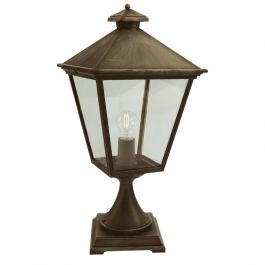 Elstead Turin Grande Outdoor Pedestal Light in Black Gold