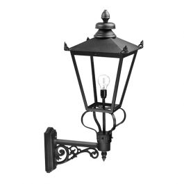 Elstead Wilmslow Outdoor Wall Lantern in Black