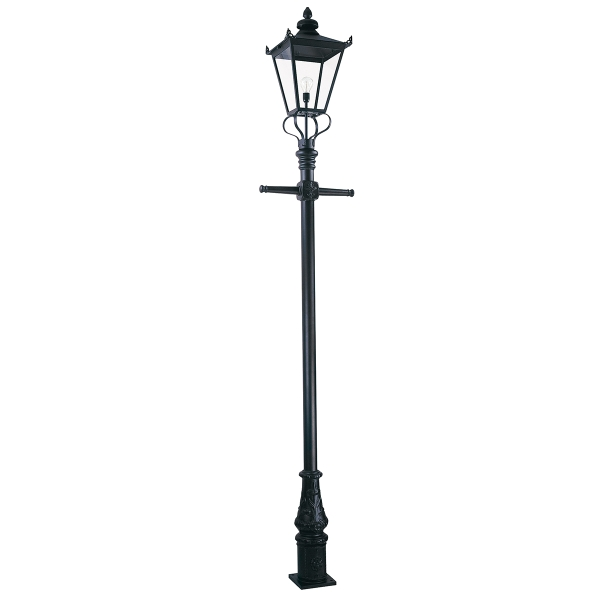 Elstead Wilmslow Outdoor Lamp Post in Black