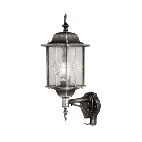 Elstead Wexford Up Outdoor Wall Lantern With PIR Motion Sensor