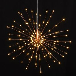 30cm / 12in Copper Starburst Battery Powered Pendant with 120 Warm White Lights