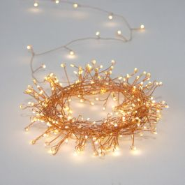 20m/65ft 7in Cluster Copper Mains Powered 300 Warm White String Lights