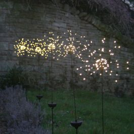 1.1m/3ft 7in Solar Starburst Outdoor Stake Light with 90 Warm White Lights