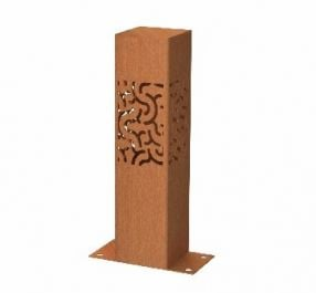 40cm (15.7in) Corten Steel Outdoor  Light, Branch Pattern