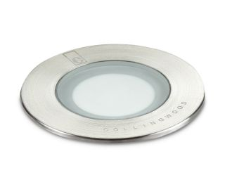 Collingwood 1W Natural White Ground Light in Stainless Steel