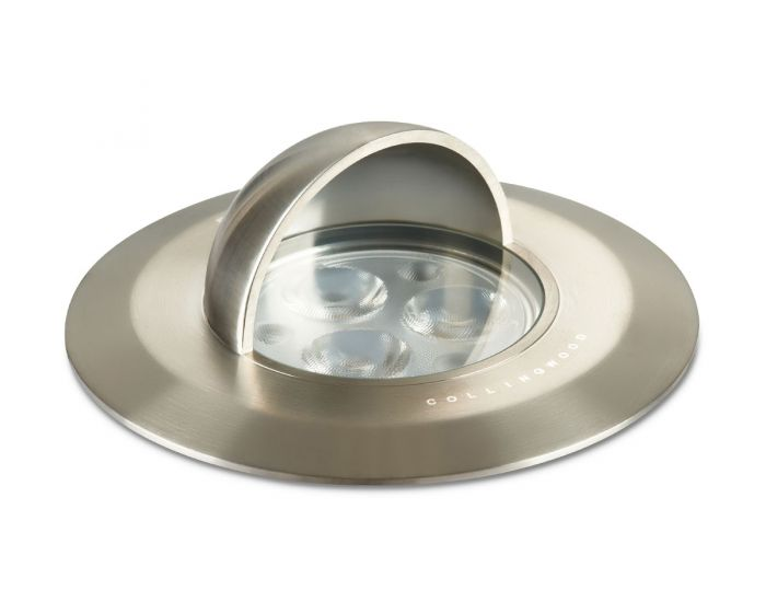 Collingwood 2.9W Natural White Hooded Ground Light in Stainless Steel