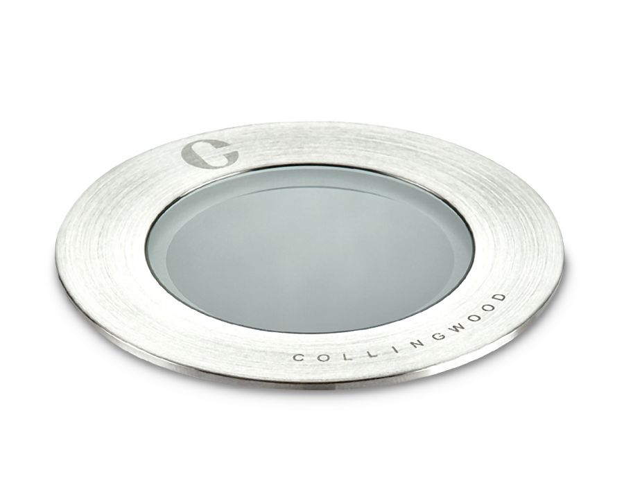 Collingwood 2W Natural White Baffled Ground Light in Stainless Steel, 12° Beam Angle