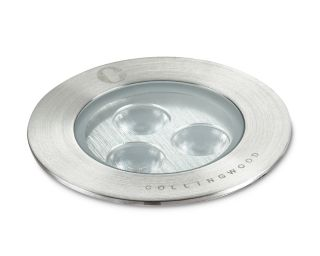 Collingwood 2.2W Warm White Ground Light in Stainless Steel, 12° Beam Angle