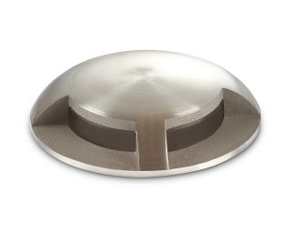 Collingwood Natural White Mini Domed Light in Stainless Steel, 2 Windows, 90° Beam Angle