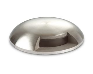 Collingwood Warm White Mini Domed Light in Stainless Steel, 2 Windows, 180° Beam Angle