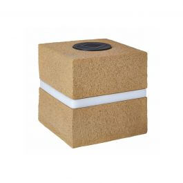 Solar Powered Decorative Sandstone Cube Garden Light By Smart Solar